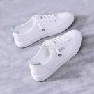新款休閒淺口小白鞋子女平底一腳蹬百搭運動韓版皮面學生板鞋