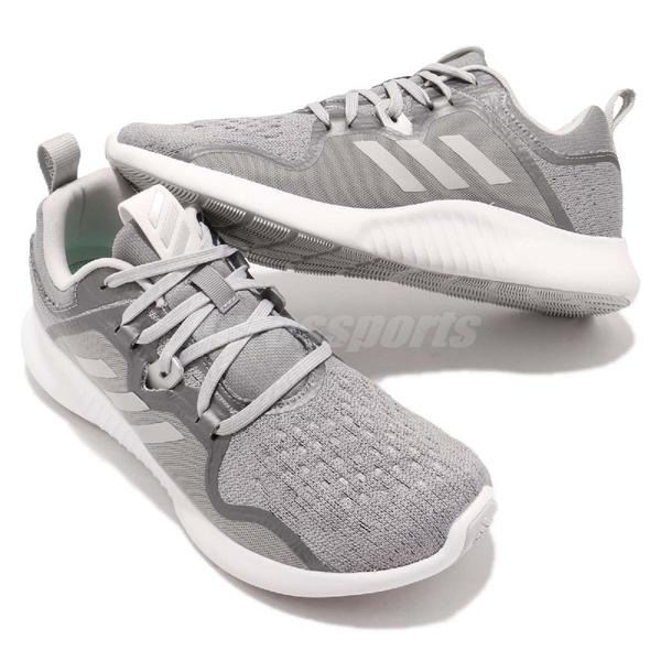 adidas 慢跑鞋 EdgeBOUNCE W 灰 白 低筒 回彈中底 女鞋 運動鞋 【ACS】 BB7565