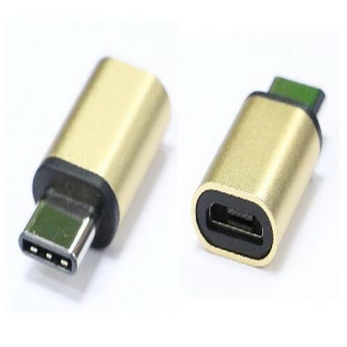 炫彩3.1 Type C公-USB2.0 MicroB母轉接頭(金色)