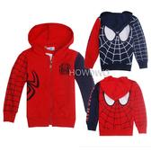 蜘蛛人兒童薄外套 中大童防曬連帽外套 新年紅 卡通夾克 SK016 好娃娃
