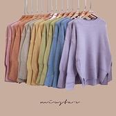 現貨-MIUSTAR 許願款溫柔色系!側開衩混羊絨針織毛衣(共7色)【NH3486】