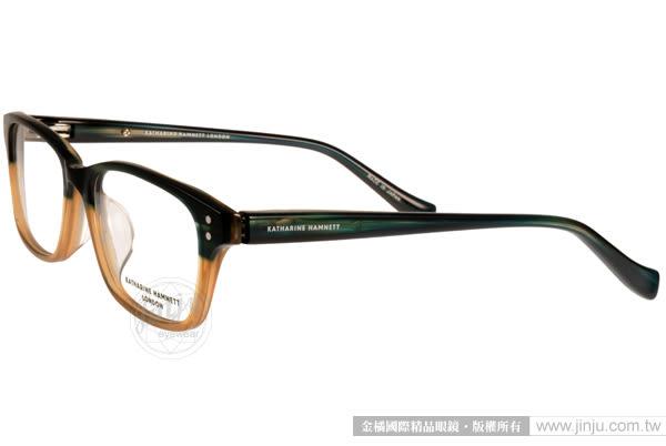 KATHARINE HAMNETT 眼鏡 KH9137 C04 (綠黃) 日本工藝經典方框款 # 金橘眼鏡