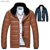 [現貨] 極致禦寒內絨毛可拆立領專櫃羽革皮衣飛行外套.六色 有大尺碼【QZZZ13863】