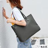 手提包 側背包 新簡約帆布包托特包尼龍布包手提女包大容量包包單肩包女大包