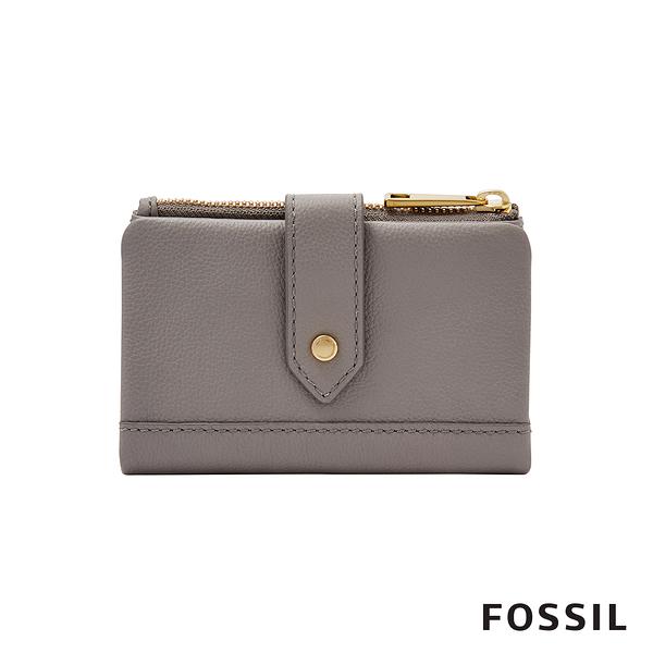 FOSSIL LAINIE 含零錢匣扣帶中夾-灰色 SWL2061020