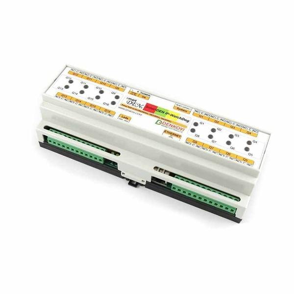 Denkovi smartDEN IP WatchDog-PING 重啟和自動重啟16繼電器模塊 12VDC DIN Rail Box Version B072VHRTTL [2美國直購]