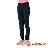 【wildland 荒野】女 彈性抗UV涼感機能長褲『黑色』0A91323 戶外 休閒 運動 露營 吸濕 排汗 快乾