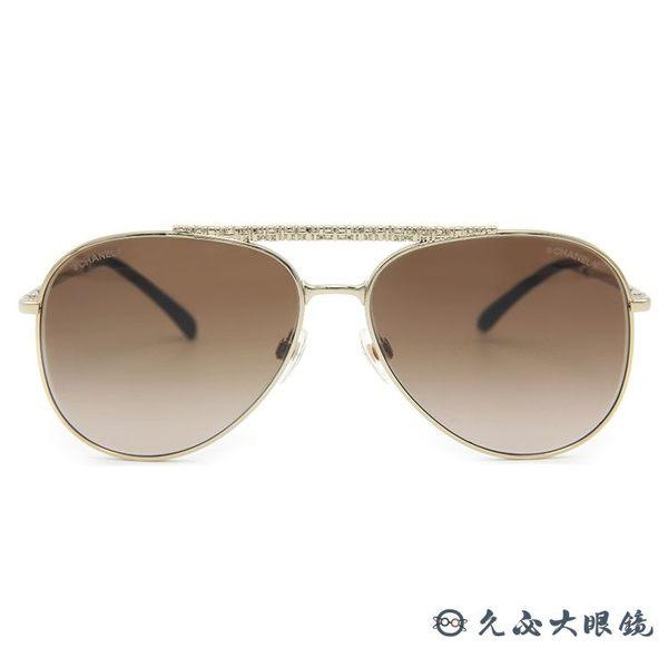 CHANEL 香奈兒 太陽眼鏡 4231 (金) 飛官款 斜紋軟呢 墨鏡 久必大眼鏡