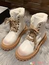 馬丁靴 馬丁靴女英倫風2021冬季新款百搭保暖網紅瘦瘦雪地靴子潮 愛丫 新品