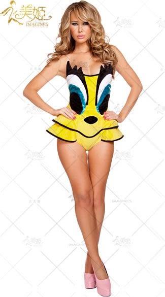 衣美姬♥歐美 俏皮款 動物連身衣 甜美卡通洋裝 制服誘惑 派對 遊戲制服