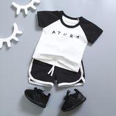 夏裝寶寶短袖套裝 1-3歲男童T恤短褲兩件套1歲純棉兒童  GY9『寶貝兒童裝』