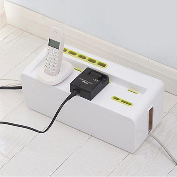 日系多功能插座電源線收納盒電線盒集線盒電腦散熱整理盒排插盒
