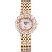 Ogival 瑞士愛其華 絢彩珠寶石英腕錶-玫瑰金
