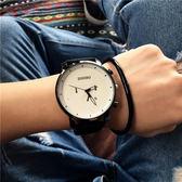 手錶男學生正韓時尚潮流復古簡約日歷皮帶