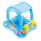 【美國 INTEX】戲水系列-遮陽游泳圈/幼兒座圈(顏色隨機) 56581NP