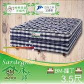 客約商品 床大師名床 純棉透氣記憶膠獨立筒床墊 3.5尺單人 (BM-薩丁)