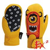 【 EX2 】青少年滑雪保暖連指手套『黃』862401 休閒.戶外.保暖.保暖手套.絨毛手套.刷毛手套.青少年
