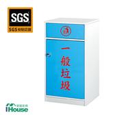 IHouse-零甲醛 環保塑鋼1門資源回收櫃如圖