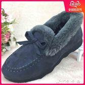 布鞋保暖豆豆鞋女冬加絨棉布鞋冬季中老年人媽媽大碼毛毛鞋 卡卡西