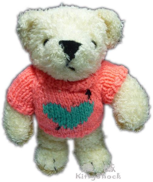 【震撼精品百貨】Teddy Bear 泰迪熊~絨毛娃娃玩偶『螢光橘毛線衣』