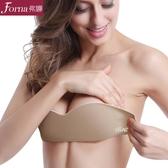 無肩帶內衣胸貼婚紗聚攏防滑上托硅膠乳貼隱形文胸無痕美背抹胸