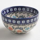 波蘭陶 典雅花團系列 餐碗 12cm 波蘭手工製