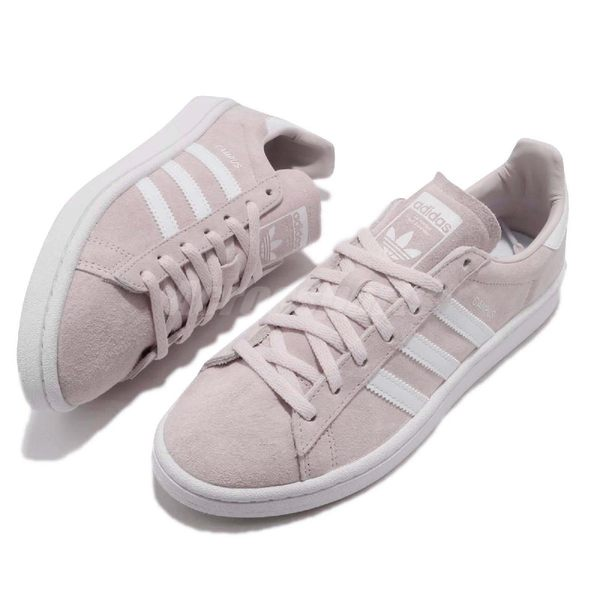 【六折特賣】adidas 休閒鞋 Campus W 粉紅 淡粉 白 麂皮 女鞋 經典款 百搭款 運動鞋【PUMP306】 CQ2106