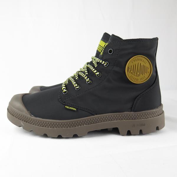 Palladium PAMPA PUDDLELITE+WP 男女款橘標高筒靴 76117036 黑X咖啡【iSport】