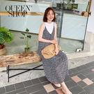 Queen Shop【01084532】雪紡小花吊帶洋裝*現+預*