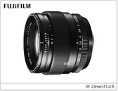 ★相機王★Fujifilm XF 23mm F1.4 R 平行輸入