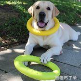 寵物玩具耐咬幼犬磨牙互動圓環咬膠球金毛拉布拉多中大型犬狗用品 焦糖布丁