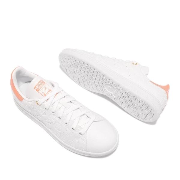【海外限定】adidas 休閒鞋 Stan Smith W 白 橘 鋼印 小白鞋 三葉草 愛迪達 女鞋 【ACS】 FX5677