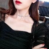 項錬珍珠鑲鉆鎖骨錬女choker頸帶簡約短款項錬女脖子飾品韓國個性項圈【快速出貨】