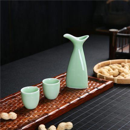 酒杯古風中國風喝白酒的小酒盅陶瓷傳統仿古小白酒杯陶瓷酒具套裝 「夢幻小鎮」