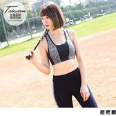 《KS0159》台灣品質.世界同布~花紗拼接挖背半截運動背心.3色 OrangeBear