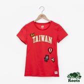 女裝ROOTS- 台灣國慶貼布短袖T恤-紅色