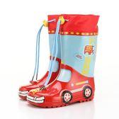 雨鞋戶外游兒童雨鞋男童女童卡通汽車恐龍兔子防滑高筒寶寶水鞋雨靴(一件免運)