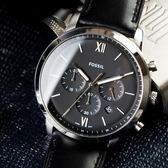 FOSSIL NEUTRA 經典黑色緞面潮流腕錶 FS5452 熱賣中!