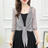 外搭夏配吊帶裙的小外套短款大碼披肩夏季薄開衫配裙子的上衣罩衫