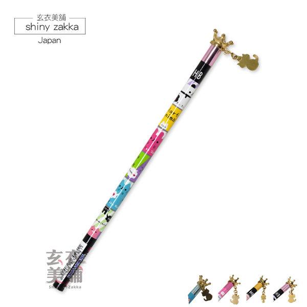 鉛筆-日本可愛皇冠吊飾HB鉛筆-四款-玄衣美舖