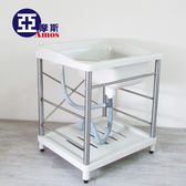 不锈鋼水槽 防鏽洗手台【GAN001】耐用穩固ABS不鏽鋼洗衣槽(不鏽鋼腳) 廚房衛浴 台灣製造 Amos