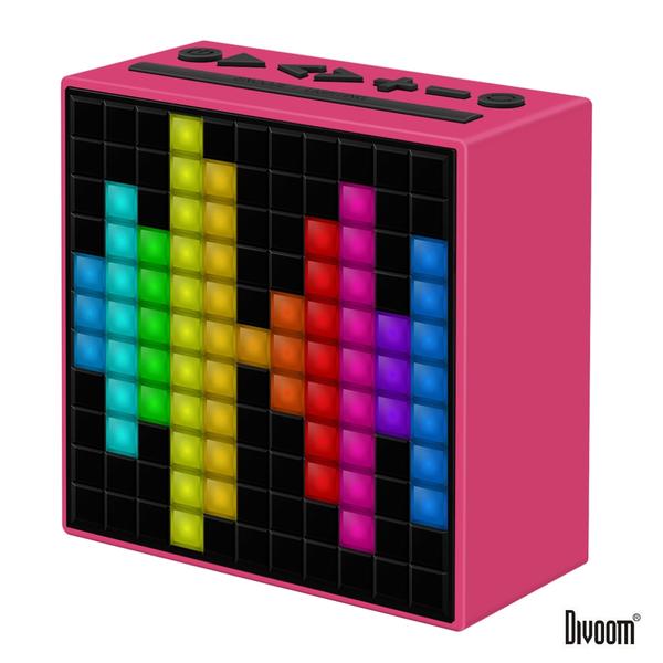DIVOOM TimeBox 智能LED音樂鬧鐘 (藍牙喇叭) 魔力粉