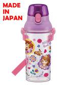 BabyPark 迪士尼小公主蘇菲亞(透明) 日本製單手彈蓋直飲水壺480ml 飲料壺 Sofia the First