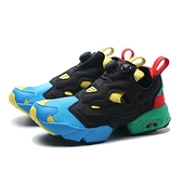 REEBOK 慢跑鞋 PUMP FURY 黑 藍綠紅 休閒 復古 充氣鞋 男女 (布魯克林) FZ2065