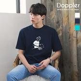 韓國短T 正韓簡約文青手繪風小寬鬆短袖t恤  【PA20996】