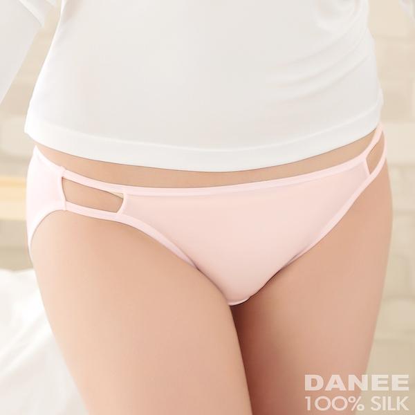【岱妮蠶絲】1A0260E側鏤空低腰三角女內褲/42針雙面70G (粉紅)