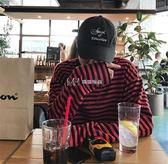 韓國秋裝打底衫百搭條紋長袖T恤 18ss男女款  瑪奇哈朵
