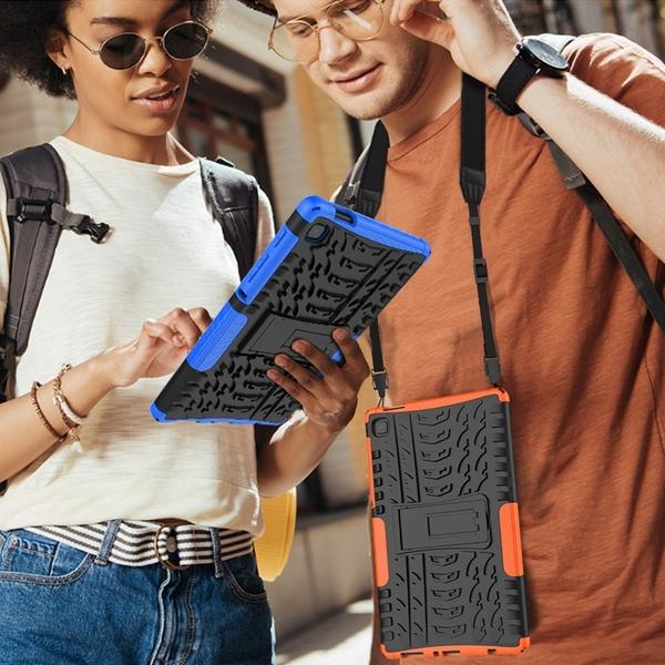 送肩帶 Samsung 三星Galaxy Tab A7 Lite 平板保護套 8.4吋 T220 全包 防摔殼 T225 炫紋矽膠 支架保護殼 外殼