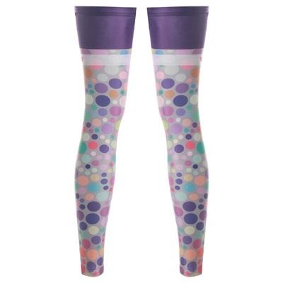 自行車腿套-時尚彩色點點舒適單車防曬腿套73fn15【時尚巴黎】