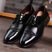皮鞋 韓版男士上班黑色工作皮鞋男新郎伴郎結婚鞋拍婚紗照皮鞋百搭男鞋 布衣潮人
